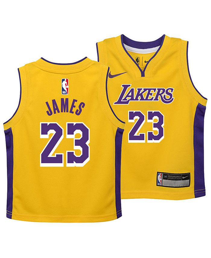 Nike LeBron James Los Angeles Lakers Icon Replica Jersey, Toddler ...