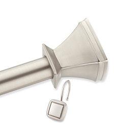 Square Decorative Shower Rod and Hooks Set