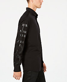 HUGO Men's Oversized Graphic Shirt