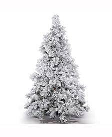 6.5' Flocked Alberta Artificial Christmas Tree Unlit