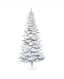 Vickerman 8' Snowy Alpine Artificial Christmas Tree with 500 Warm White LED Lights