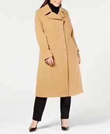 30ad0d847cb Anne Klein Plus Size Single-Breasted Coat