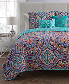 VCNY Home Yara Reversible 5-Pc. King Quilt Set
