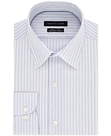 Tommy Hilfiger Men's Slim-Fit TH Flex Non-Iron Supima Stretch Stripe Dress Shirt