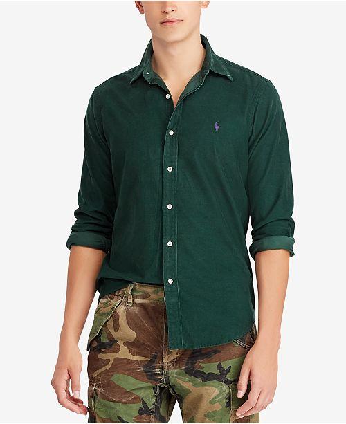 Polo Ralph Lauren Men s Classic-Fit Corduroy Shirt - Casual Button ... 70ab0bb3b693