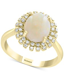 EFFY® Opal (1-3/8 ct. t.w.) & Diamond (1/5 ct. t.w.) Ring in 14k Gold