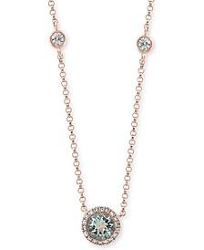 "EFFY® Aquamarine (1/2 ct. t.w.) & Diamond (1/3 ct. t.w.) 18"" Pendant Necklace in 14k Gold"