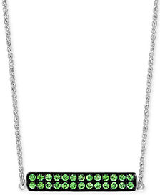 "EFFY® Tsavorite Cluster Horizontal Bar 18"" Pendant Necklace (1/2 ct. t.w.) in Sterling Silver"