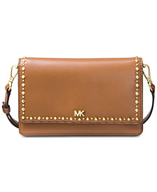 MICHAEL Michael Kors Studded Leather Phone Crossbody