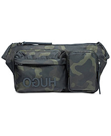 Hugo Boss Men's Record Camo-Print Waist Bag