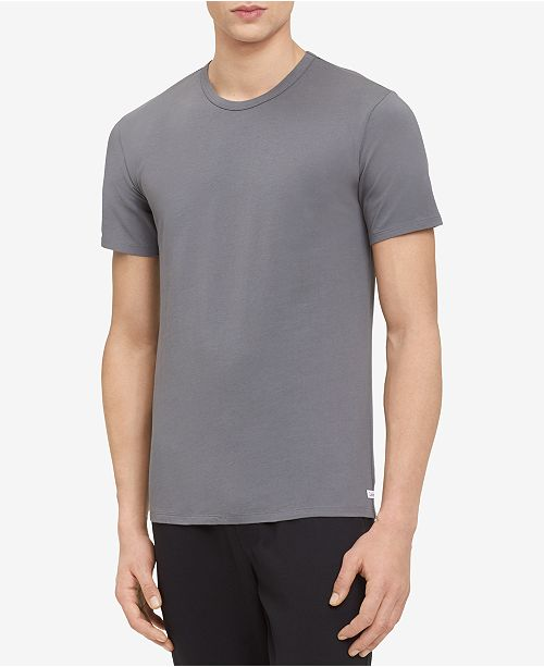 678c2b5dd8af62 Calvin Klein Men's Cotton Stretch Crew Neck Undershirt 2-Pack ...