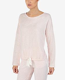 Lauren Ralph Lauren Satin Tie-Hem Pajama Top