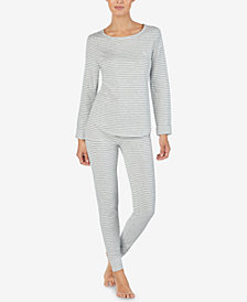 Lauren Ralph Lauren Striped Cuffed Pajama Pants
