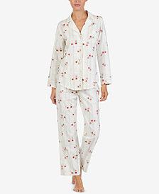 Lauren Ralph Lauren Brushed Cotton Pajama Set