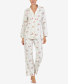 Lauren Ralph Lauren Petite Printed Cotton Pajama Set