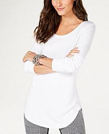 I.N.C. Ribbed Long-Sleeve T-Shirt