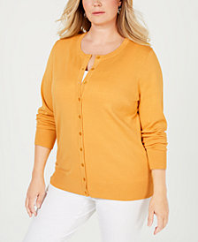 Charter Club Plus Size Cardigan Sweater, Created for Macy's