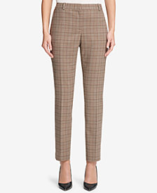 Tommy Hilfiger Slim Plaid Ankle Pants