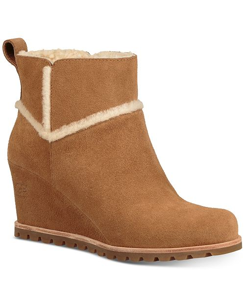 2a683deeebe UGG® Women's Marte Wedge Booties & Reviews - Boots - Shoes - Macy's