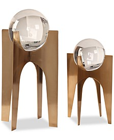 Ellianna Crystal Spheres Set of 2