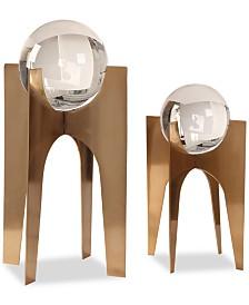 Uttermost Ellianna Crystal Spheres Set of 2