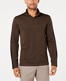 Alfani Men's Ottoman Stripe Quarter-Zip Mock-Collar Sweater, Created for Macy's