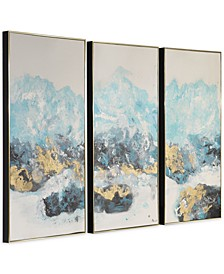 Crashing Waves Abstract Art Set of 3