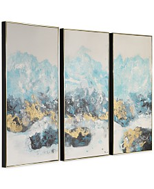 Uttermost Crashing Waves Abstract Art Set of 3