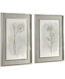 Uttermost Stone Flower Study Prints Set of 2