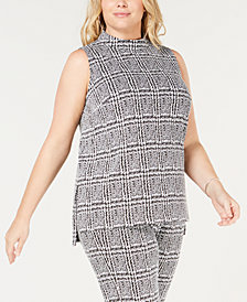 MICHAEL Michael Kors Plus Size Jacquard High-Low Tunic
