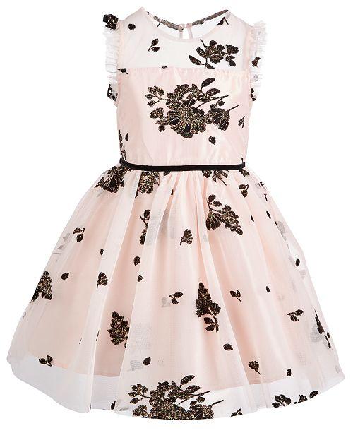 519f8ab40c0f Pink & Violet Little Girls Floral Mesh Dress & Reviews - Dresses - Kids ...