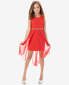 BCX Big Girls Glitter Ripple-Knit Dress