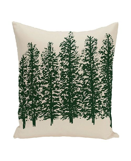 E By Design 40 Inch Off White And Dark Green Decorative Floral Throw Delectable Dark Green Decorative Pillows