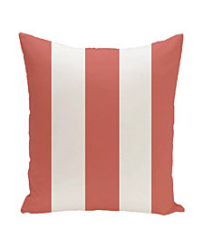 16 Inch Coral Decorative Striped Throw Pillow