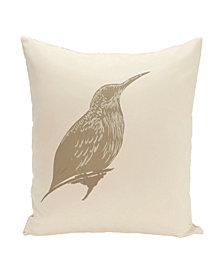 16 Inch Taupe Decorative Coastal Throw Pillow