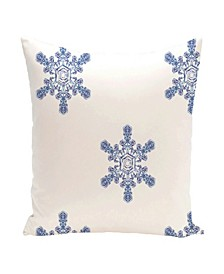 16 Inch White Decorative Christmas Throw Pillow