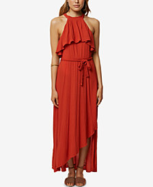 O'Neill Juniors' Misty Keyhole Ruffle Maxi Dress