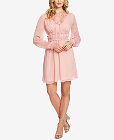 CeCe Ruffled Fit & Flare Dress