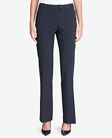 Calvin Klein Pinstriped Modern Boucle Pants