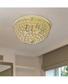 Elegant Designs 2 Light Elipse Crystal Flush Mount Ceiling Light