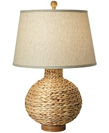 Pacific Coast Seagrass Bay Round Table Lamp