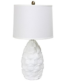 Elegant Designs Resin Table Lamp with Fabric Shade