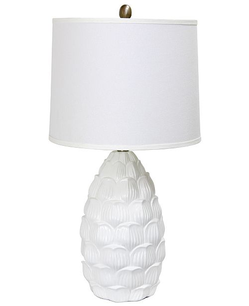 All The Rages Elegant Designs Resin Table Lamp with Fabric Shade
