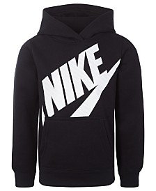 Nike Little Girls Futura Fleece Logo-Print Hoodie
