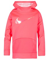 Nike Little Girls Therma-FIT Logo-Print Tunic Hoodie 25c71d480