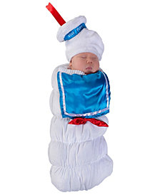 Ghostbusters Stay Puft Baby Girls Swaddle