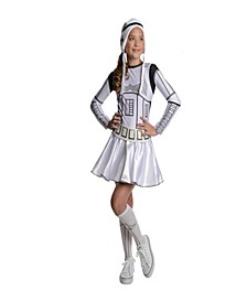 Star Wars Little and Big Girls Storm Trooper Halloween Costume