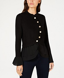 INC Tiered Sweater Jacket, Created for Macy's
