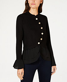 I.N.C. Tiered Sweater Jacket, Created for Macy's