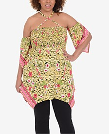 Plus Size Strappy Babydoll Tunic